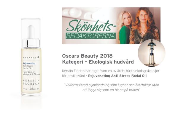 Anti-Stress Facial Oil är utsedd till årets ekologiska ansiktsolja av Skönhetsredaktörerna!